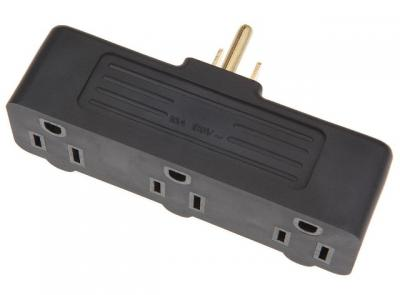 Triple-Tap Adapter Plug