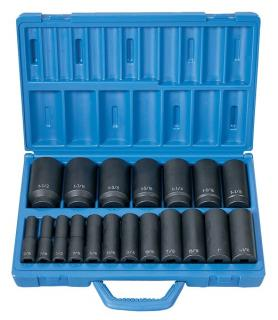 "1/2"" Drive 19 Pc. Deep Length Fractional Master Set"