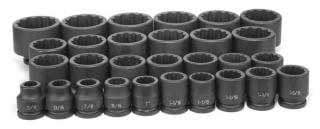 "3/4"" Dr. 29 Piece Fract. Master Set - 12 Point"
