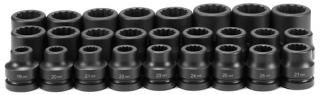 "1"" Dr. 26 Pc. Metric Set 19mm to 44mm - 12 Point"