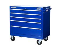 "International SRB-4205BU Tool Box Super HD 5 Drawer Roller Cabinet: 41-1/2"" X 24-1/2"" X 42-1/8"" - Blue"