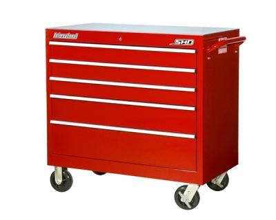 International Srb 4205rd Tool Box Super Hd 5 Drawer Roller Cabinet 41 1 2 X 24 42 8 Red Storage Cabinets Smith Supply Llc