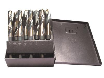 "8 Piece 9/16"" - 1"" x 16ths, 1/2"" 3-Flats S&D Drill Set"