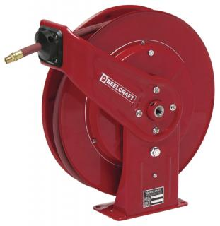 Hose Reel, 1/2 x 50ft , Air/Water with Hose, 300 psi