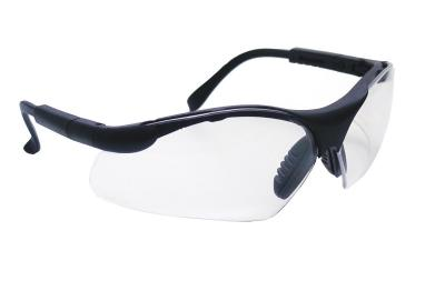 Sidewinder Safety Glasses, Black Frame, Clear Lense