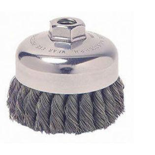 "3"" Vortec Pro Knot Wire Cup Brush, .020"