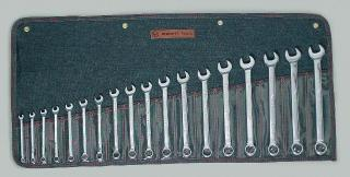 18 Pc. Full Polish Metric Combination Wrenches 7mm - 24mm
